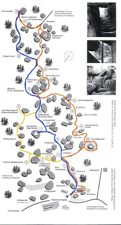 felsenlabyrinth luisenburg karte